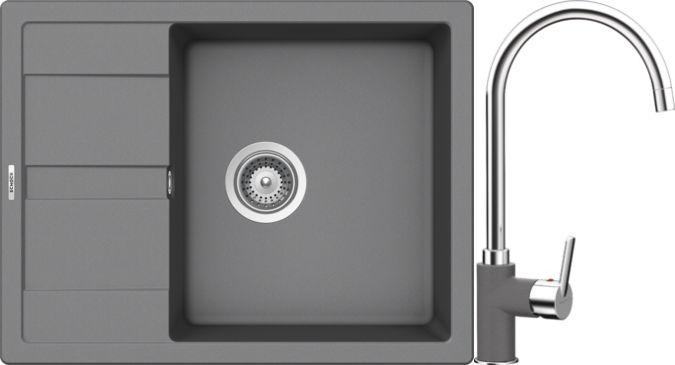 Set 8c Dřez Manhattan D-100 Croma + kuchyňská baterie Simi Croma