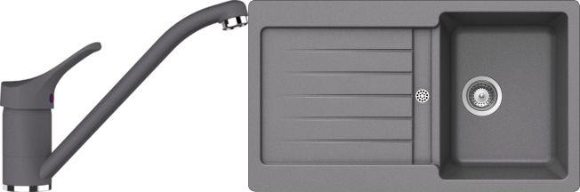 Set 16c Dřez Typos D-100 Croma + kuchyňská baterie Cosmo Croma