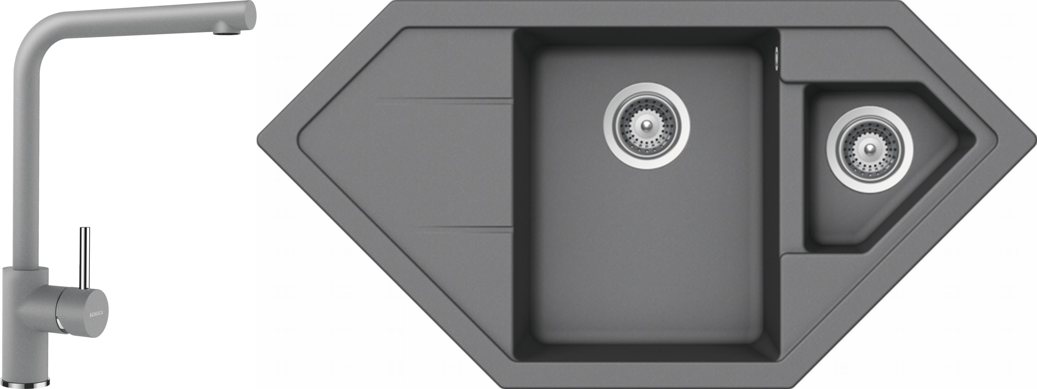 Set 38c Dřez Primus C-150 Croma + kuchyňská baterie Napos Croma