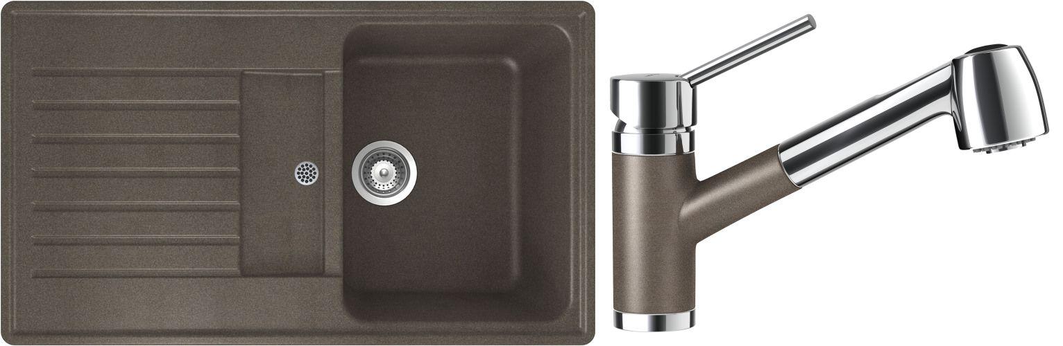 Set 53c Dřez Modena D-100 Bronze + kuchyňská baterie Pila Bronze