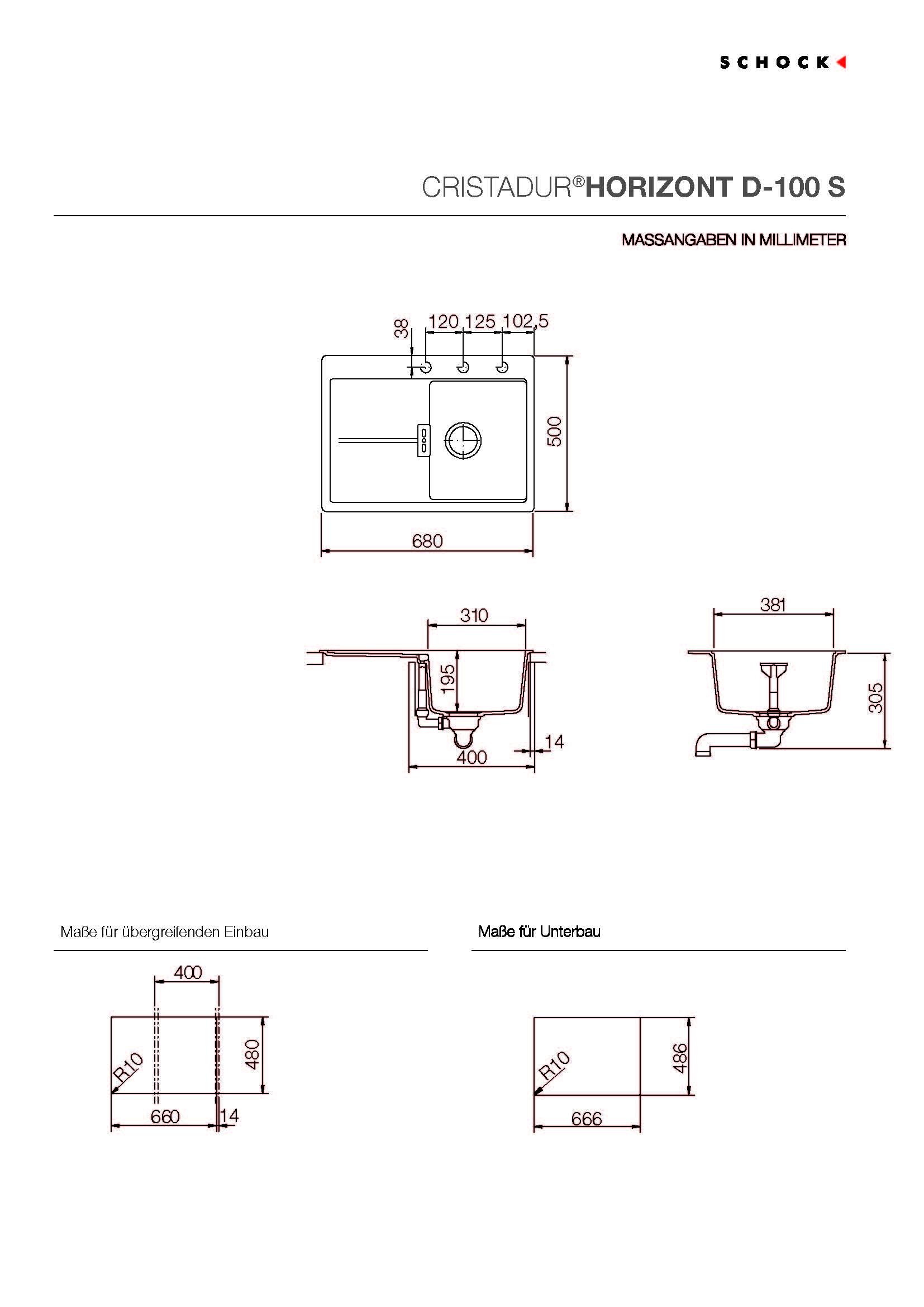 d ezy schock cristadur jednod ezy s odkapem schock horizont d 100s silverstone granitov. Black Bedroom Furniture Sets. Home Design Ideas